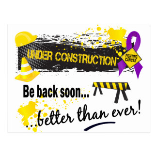 Under Construction Pancreatic Cancer Postcard