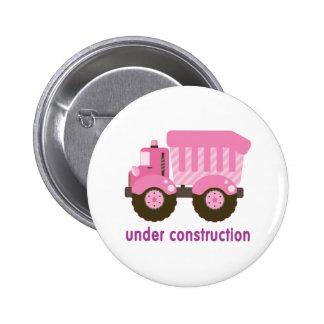 Under Construction Pink Truck Pins