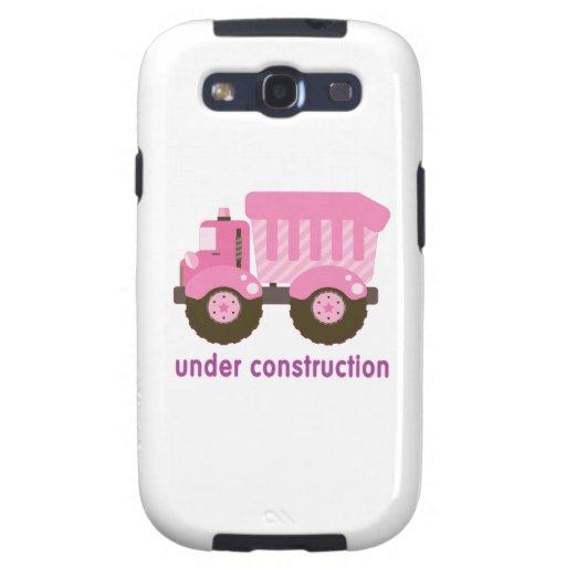 Under Construction Pink Truck Galaxy SIII Case