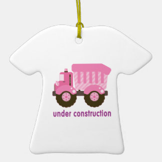 Under Construction Pink Truck Ornament
