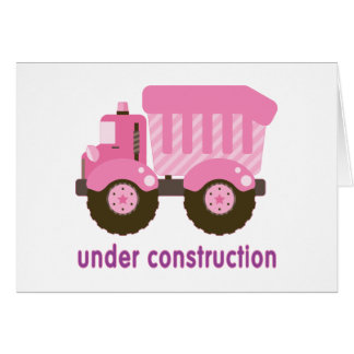 Under Construction Pink Truck Stationery Note Card