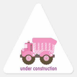 Under Construction Pink Truck Sticker