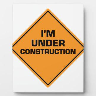 Under Construction Display Plaque