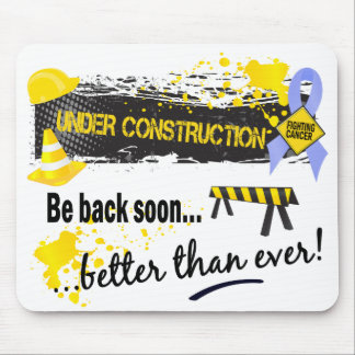Under Construction Prostate Cancer Mouse Pad