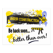 Under Construction Prostate Cancer Postcard