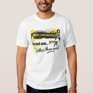Under Construction Rectal Cancer T-shirt