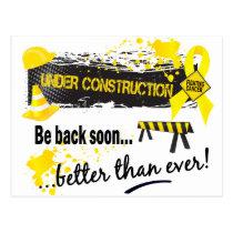Under Construction Sarcoma Postcard