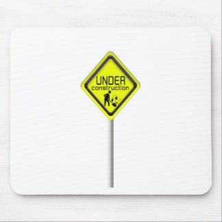 under construction sign mouse pad