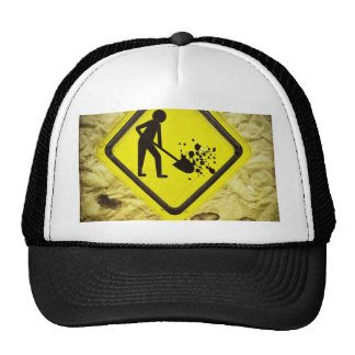 under construction sign trucker hat