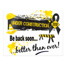 Under Construction Skin Cancer Postcard