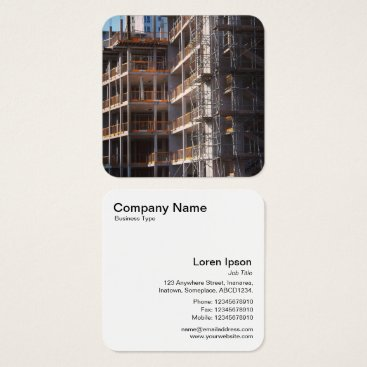 Professional Business Under Construction Square Business Card