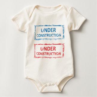 Under Construction Stamp Baby Bodysuit