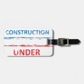 Under Construction Stamp Bag Tag