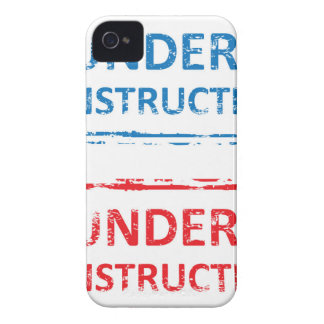 Under Construction Stamp iPhone 4 Case-Mate Case