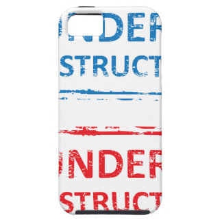 Under Construction Stamp iPhone SE/5/5s Case