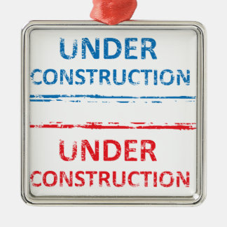 Under Construction Stamp Metal Ornament