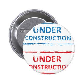 Under Construction Stamp Pinback Button