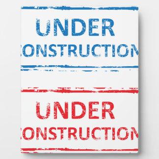 Under Construction Stamp Plaque