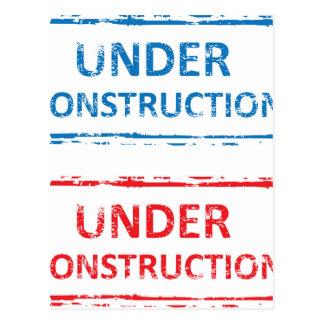 Under Construction Stamp Postcard