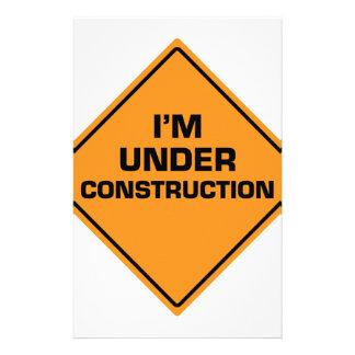 Under Construction Stationery