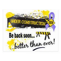 Under Construction Stomach Cancer Postcard