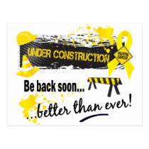Under Construction Testicular Cancer Postcard