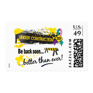 Under Construction Thyroid Cancer Postage Stamps