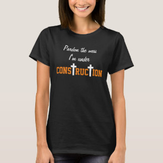 under construction tshirt womens