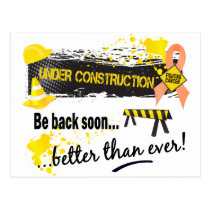 Under Construction Uterine Cancer Postcard