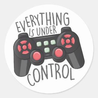 Under Control Classic Round Sticker