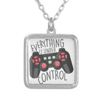 Under Control Silver Plated Necklace