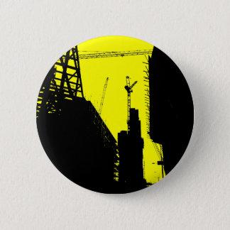 Under Contruction - Yellow Pinback Button