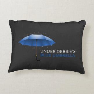 Under Debbie's Blue Umbrella Accent Pillow