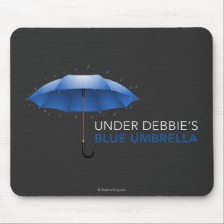 Under Debbie's Blue Umbrella Mouse Pad