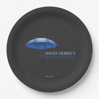 Under Debbie's Blue Umbrella Paper Plate