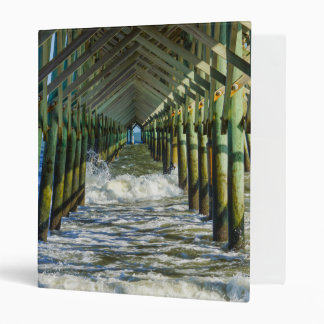 Under Folly Beach Pier 3 Ring Binder