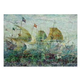 Under Full Sail Gift Tag Large Business Card
