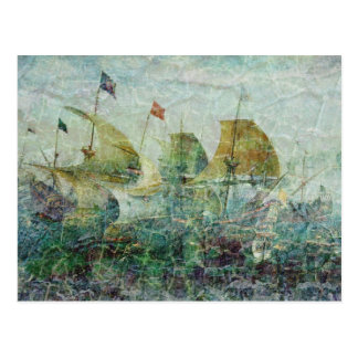 Under Full Sail Postcard