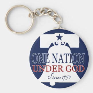 Under God Since 1954 Keychain
