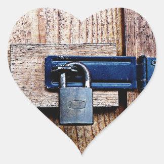 Under Lock and Key Heart Sticker
