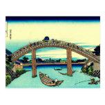 Under Mannen Bridge at Fukagawa Postcards