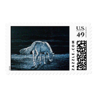 Under Moon Horse Postage Stamps