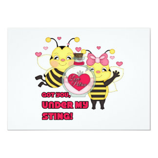 Under My Sting Funny Valentine Bees Announcements