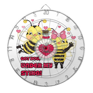 Under My Sting Funny Valentine Bees Dartboard
