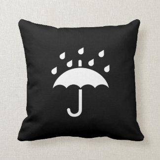 Under My Umbrella Pictogram Throw Pillow
