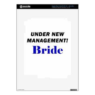 Under New Management Bride Decals For iPad 3
