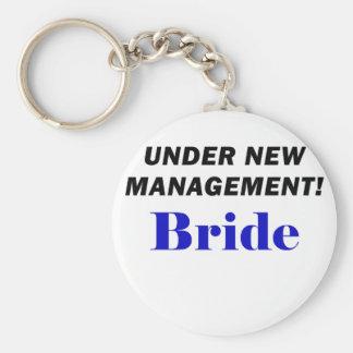 Under New Management Bride Keychain