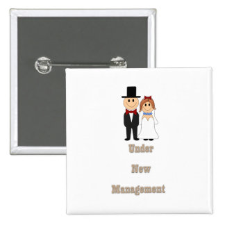 Under new management pinback buttons