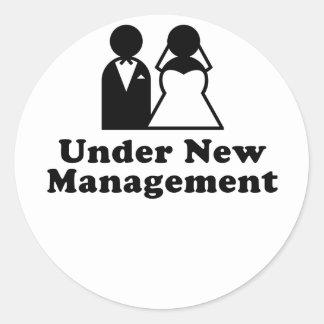 Under New Management Classic Round Sticker