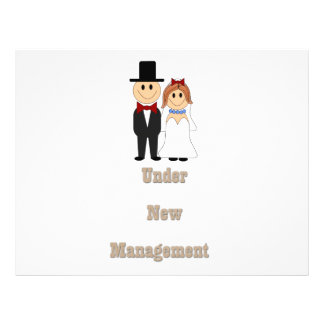 Under new management flyer design